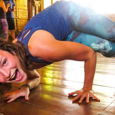 yoga playtime, arm balance