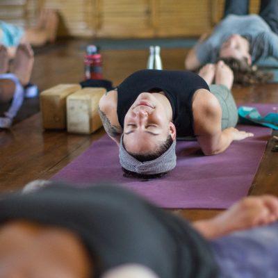 fish pose, yoga asana