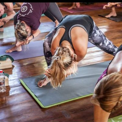 humble warrior, yoga asana, yoga pose