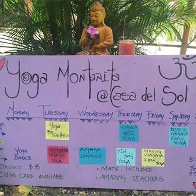 yoga schedule, yoga studio, yoga montanita